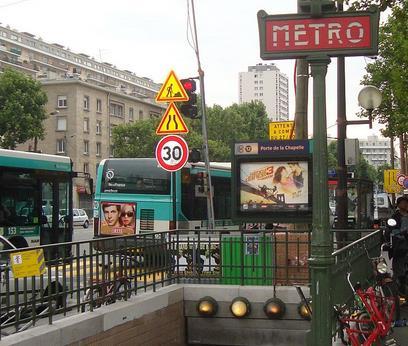 Métro Porte de la Chapelle