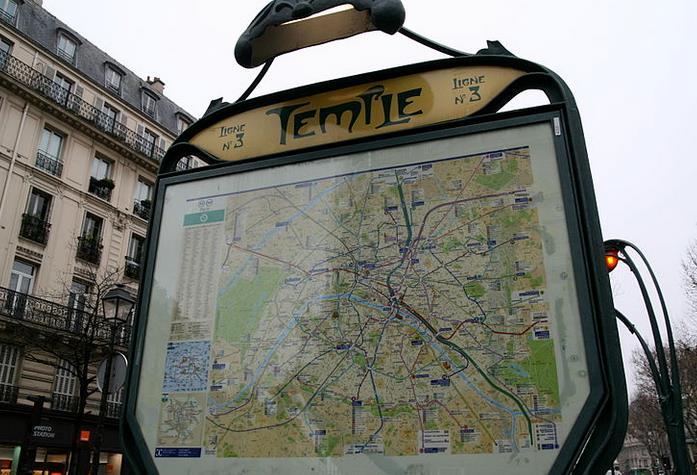 Métro Temple : plan, horaires et trafic