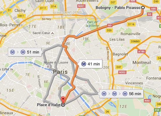 Carte Ligne 5 métro de Paris